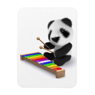 Cute Baby Panda Xylophone 3d Magnet