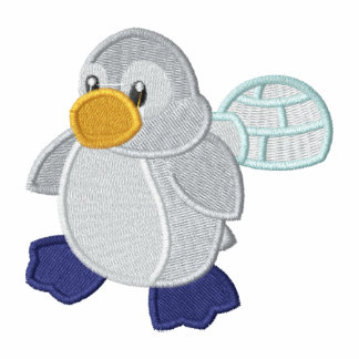 Cute Baby Penguin and Igloo