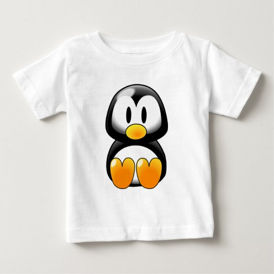 Cute Baby Penguin - Customizeable Baby T-Shirt