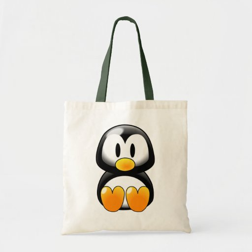 Cute Baby Penguin - Customizeable Canvas Bag