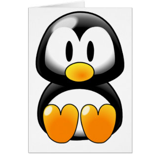 Cute Baby Penguin - Customizeable Greeting Card