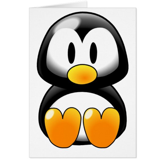 Cute Baby Penguin - Customizeable Card