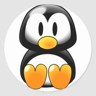 Cute Baby Penguin - Customizeable Stickers