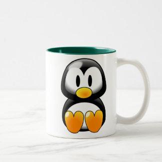 Cute Baby Penguin - Customizeable Two-Tone Coffee Mug
