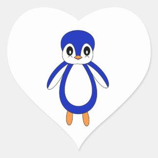 Cute Baby Penguin Heart Sticker