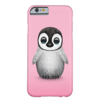Cute Baby Penguin on Pink Barely There iPhone 6 Case