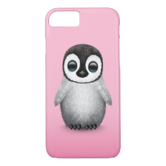 Cute Baby Penguin on Pink iPhone 8/7 Case