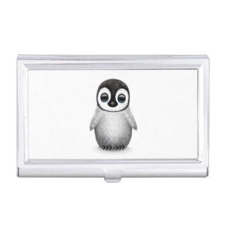 Cute Baby Penguin on White Business Card Holder