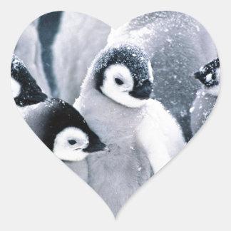 cute baby penguin penguins design heart sticker