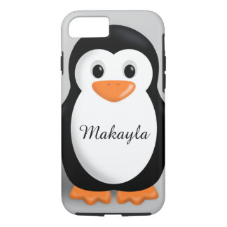 Cute Baby Penguin Personalized Name iPhone 8/7 Case