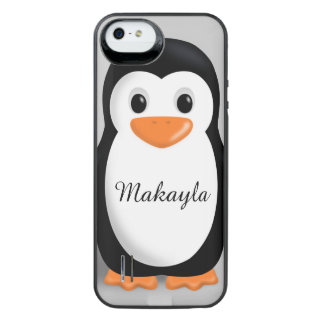 Cute Baby Penguin Personalized Name iPhone SE/5/5s Battery Case