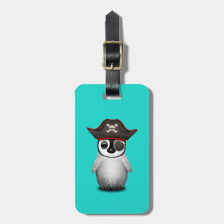 Cute Baby Penguin Pirate Bag Tag