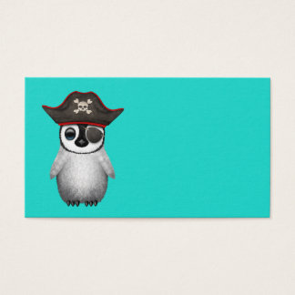 Cute Baby Penguin Pirate Business Card