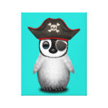 Cute Baby Penguin Pirate Canvas Print