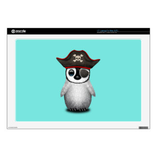 Cute Baby Penguin Pirate Decal For Laptop