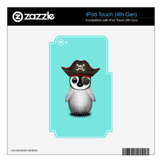 Cute Baby Penguin Pirate iPod Touch 4G Skin