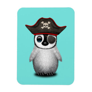 Cute Baby Penguin Pirate Magnet