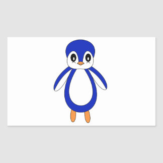 Cute Baby Penguin Rectangular Sticker