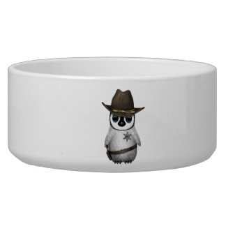 Cute Baby Penguin Sheriff Bowl