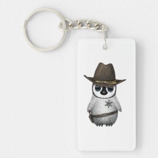 Cute Baby Penguin Sheriff Keychain