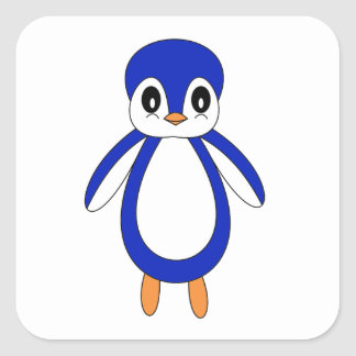 Cute Baby Penguin Square Sticker