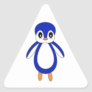 Cute Baby Penguin Triangle Sticker
