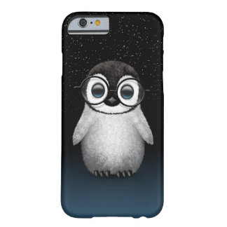 Cute Baby Penguin Wearing Eye Glasses with Stars Barely There iPhone 6 Case