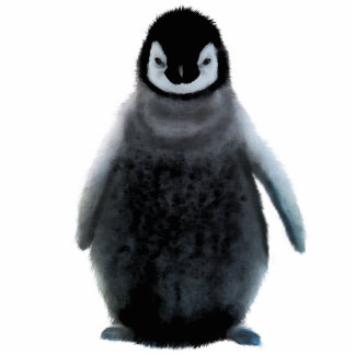 Cute Baby Penguin Wildlife Sculpted Gift Statuette