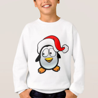 Cute Baby Penguin With Santa Claus Hat Sweatshirt