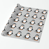 Cute Baby Penguin Wrapping Paper