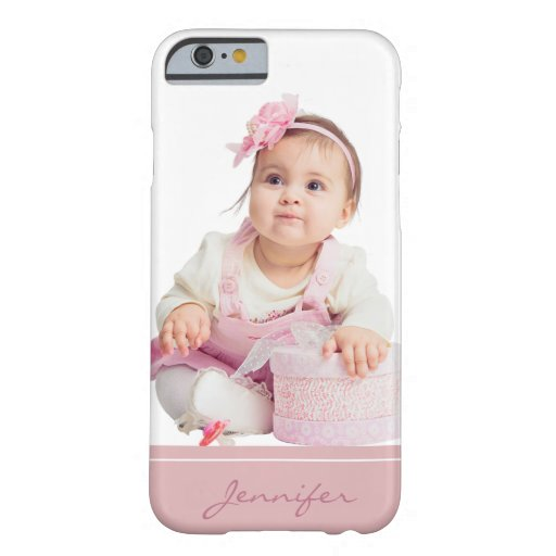 Cute Baby Photo Pink White Barely There iPhone 6 Case