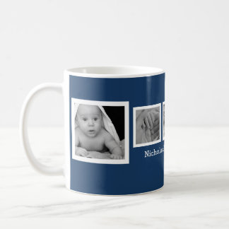 Cute Baby Photos with Personalized Name Coffee Mug
