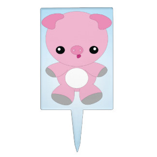 Cute Baby Pig cake topper