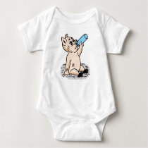 Cute Baby Pig Cartoon Design Baby Bodysuit