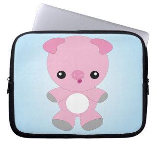 Cute Baby Pig laptop sleeve