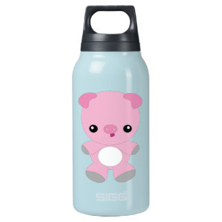 Cute Baby Pig Thermos Water Bottle