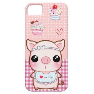 Cute baby piggy and kawaii cupcakes iPhone 5 case
