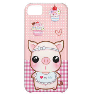Cute baby piggy and kawaii cupcakes iPhone 5C case