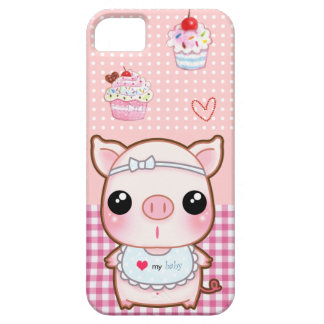 Cute baby piggy and kawaii cupcakes iPhone SE/5/5s case