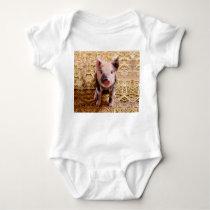 Cute Baby Piglet Farm Animals Babies Baby Bodysuit