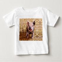 Cute Baby Piglet Farm Animals Babies Baby T-Shirt