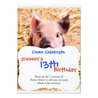 Cute Baby Piglet Farm Animals Babies Card