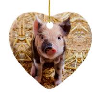 Cute Baby Piglet Farm Animals Babies Ceramic Ornament