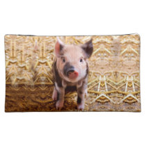 Cute Baby Piglet Farm Animals Babies Cosmetic Bag
