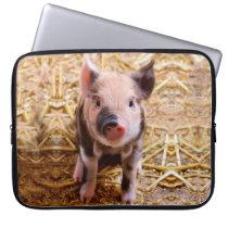 Cute Baby Piglet Farm Animals Babies Laptop Sleeve
