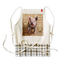 Cute Baby Piglet Farm Animals Babies Zazzle HEART Apron