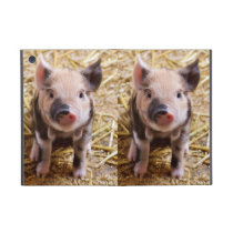 Cute Baby Piglet Farm Animals Barnyard Babies Cover For iPad Mini