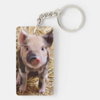 Cute Baby Piglet Farm Animals Barnyard Babies Keychain