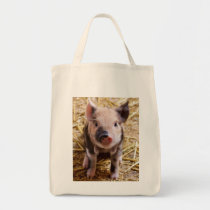 Cute Baby Piglet Farm Animals Barnyard Babies Tote Bag