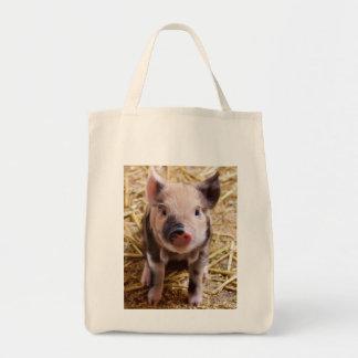 Cute Baby Piglet Farm Animals Barnyard Babies Tote Bag